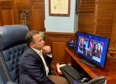 BridgeportMayor Ganim, Leadership of U.S. Conference of Mayors Join Video Conference with President- Elect Biden and Vice President-Elect Harris