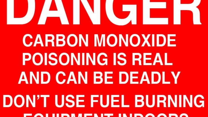 Connecticut Department Of Public Health Issues Warning About Carbon Monoxide Poisoning With The Possibility Of Damage Being Caused By Tropical Storm/Hurricane Henri