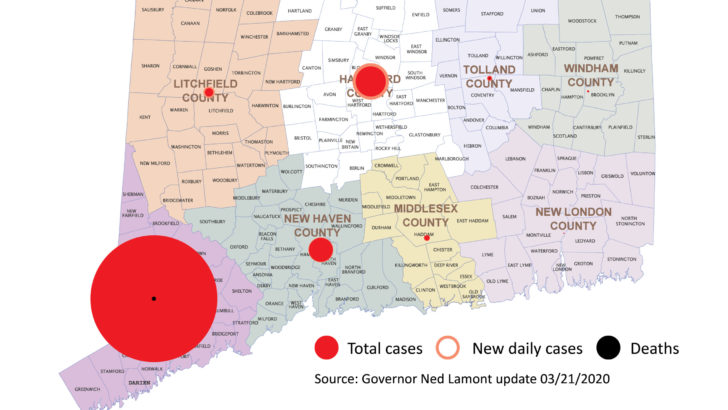 Lamont: 29 new coronavirus cases brings CT total to 223 on 3,100 tests; 43 in hospital, 5 dead
