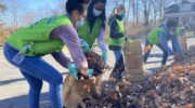 Volunteers from the Church of God Help Seniors with Leaf Clean Up