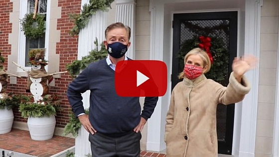 Gov. and Mrs. Lamont host a virtual holiday open house at the governor's residence