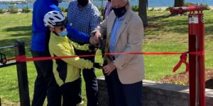 Norwalk Unveils Bike Repair Station at Calf Pasture Beach