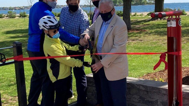 Norwalk Unveils Bike Repair Station at Calf Pasture Beach